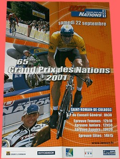2001 Grand Prix des Nations - Lance Armstrong - Official Event Poster