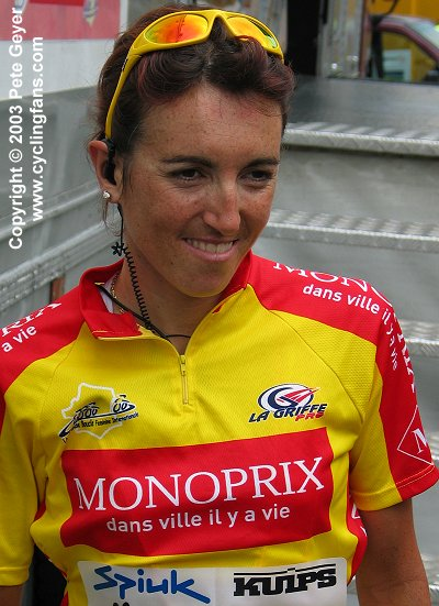 Joane Somarriba Arrola before starting the final stage of her record-tying third consecutive GBFI win in 2003