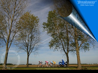 2006 Paris-Tours breakaway wallpaper