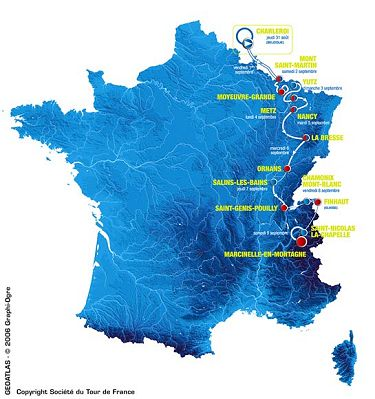 2006 Tour de l Avenir route map