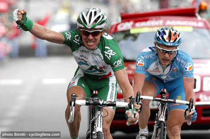2008 Dauphine Libere: Dmitryi Fofonov (Credit Agricole) wins Stage 7 in Grenoble