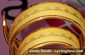 2008 Tour of Italy trophy close-up