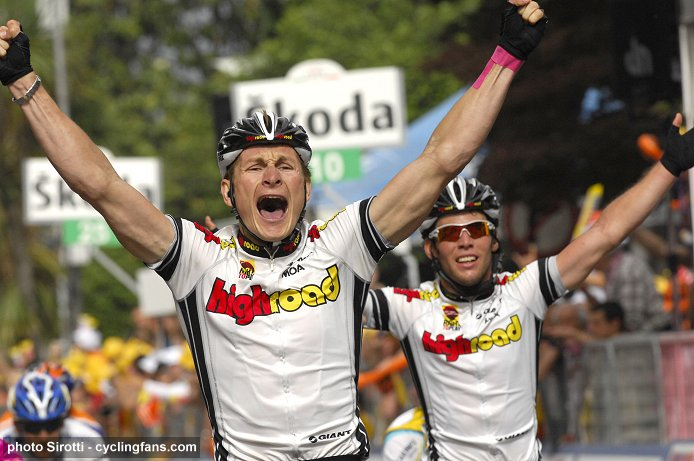 2008 Tour of Italy: Andre Greipel (Team High Road) wins Stage 17