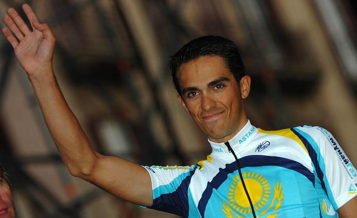 2008 Tour of Italy: Alberto Contador (Astana) at the teams presentation
