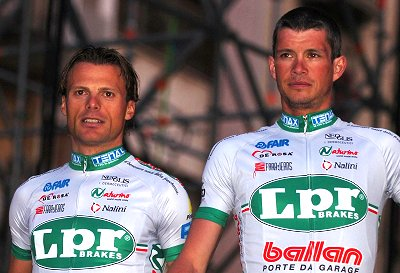 2008 Tour of Italy Teams Presentation: Defending champion Danilo Di Luca and Paolo Savoldelli