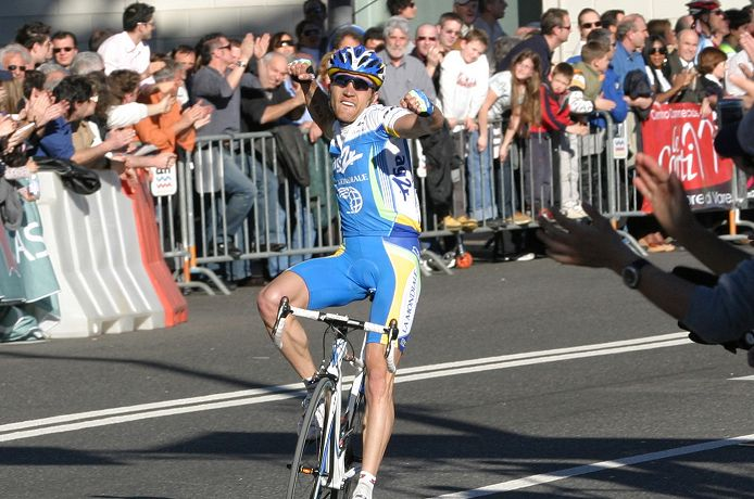 Rinaldo Nocentini (AG2R) wins the GP Lugano in Switzerland