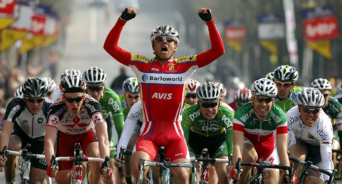Patrick Calcagni (Barloworld) wins the 2008 GP Pino Cerami