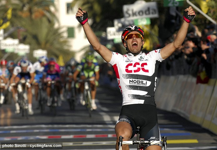 Fabian Cancellara (Team CSC) wins the 2008 Milan-San Remo