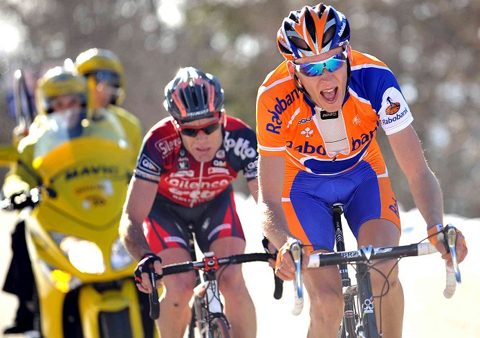Cadel Evans and Robert Gesink on Mont Ventoux, 2008 Paris-Nice