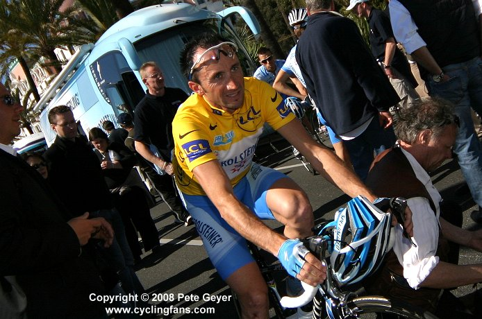 Davide Rebellin on the Promenade des Anglais, 2008 Paris-Nice