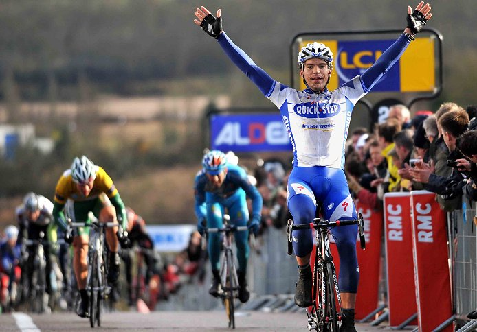 Gert Steegmans (Quick Step) wins Stage 1 of the 2008 Paris-Nice
