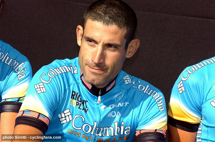 2008 Tour de France Teams Presentation:  American George Hincapie (Columbia Pro Cycling Team)