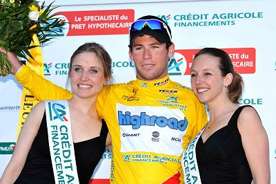 2008 Tour de Romandie: Mark Cavendish on the podium