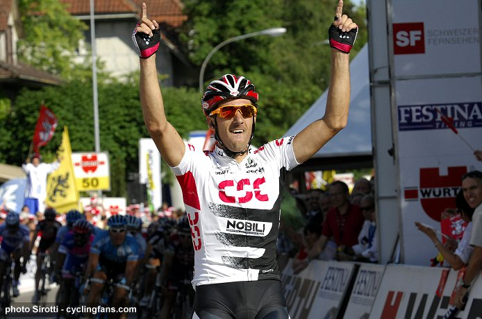 2008 Tour de Suisse:  Fabian Cancellara (Team CSC) wins Stage 7