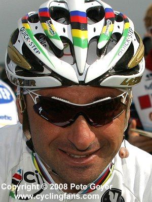 Paolo Bettini (Quick Step) before the stage 1 start