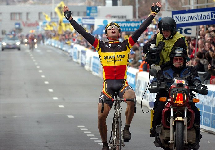 Champion of Belgium Stijn Devolder (Quick Step) wins the 2008 Tour of Flanders