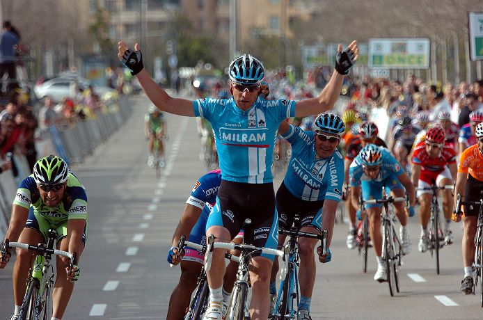 Alessandro Petacchi (Team Milram) wins the final stage