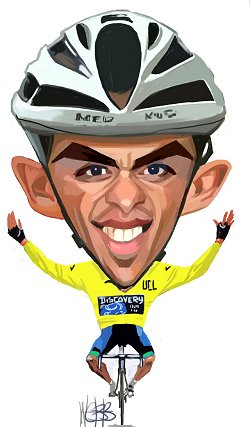Alberto Contador in yellow