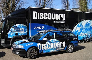 New Discovery Channel bus and car