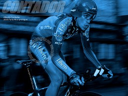 Alberto Contador 2005 Paris-Nice Time Trial Wallpaper