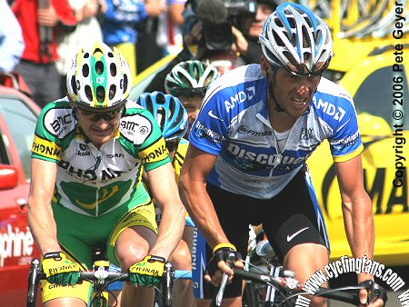 Lance Armstrong, Floyd Landis and Levi Leipheimer on Mont Ventoux, 2005 Dauphine Libere