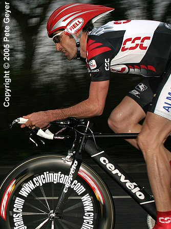 Bobby Julich of Team CSC wins the time trial and overall, 2005 Criterium International