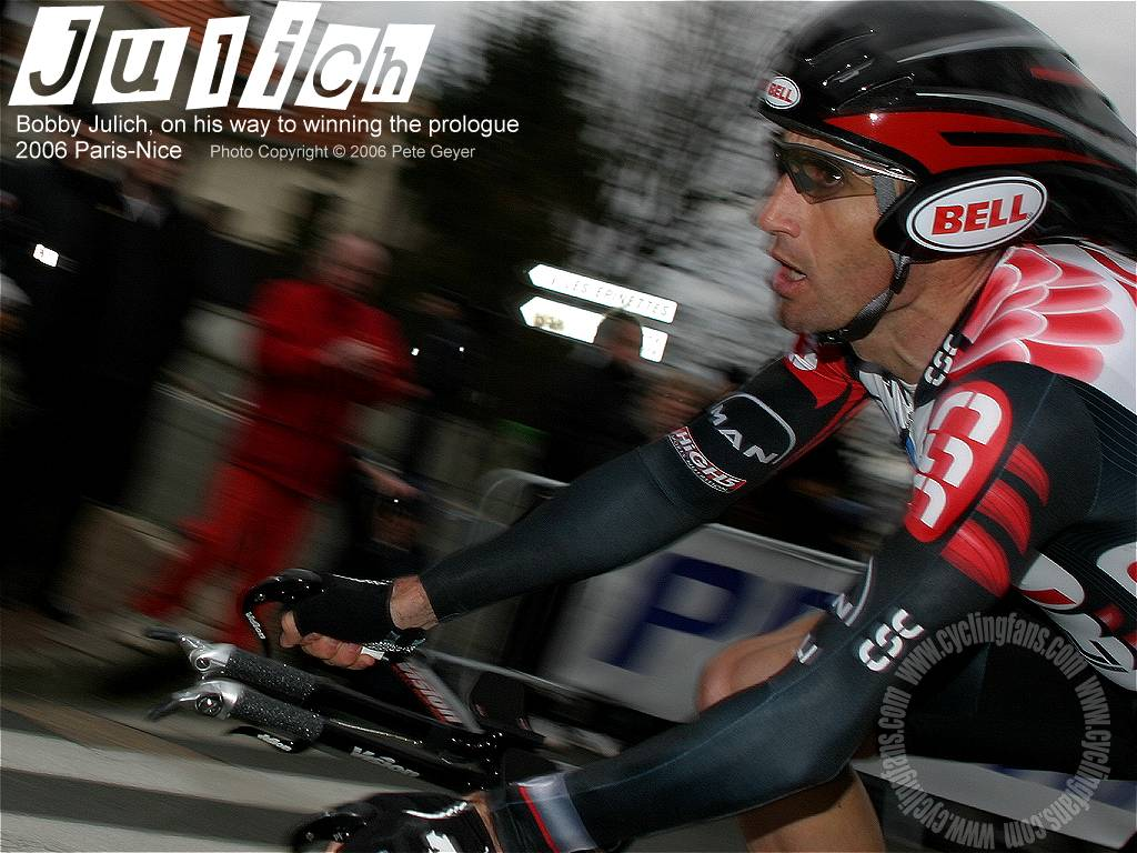 2006 Bobby Julich CSC Paris-Nice prologue wallpaper