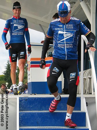 Christian Vandevelde and Viatcheslav Ekimov, 2003 Paris-Tours