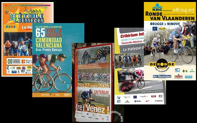 Pro cycling official race event posters