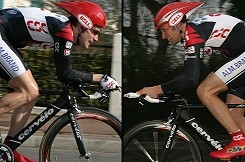 Dave Zabriskie and Ivan Basso (Team CSC)