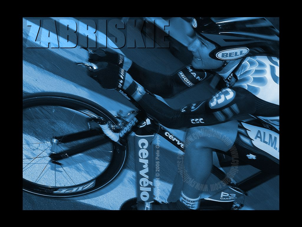 Team CSC Dave Zabriskie Paris-Nice Time Trial Wallpaper