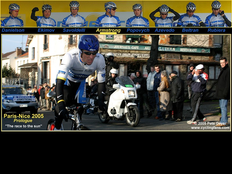 2005 Lance Armstrong Discovery Channel Paris-Nice wallpaper