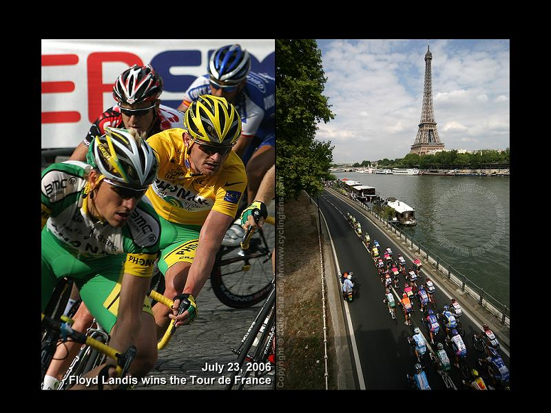 Floyd Landis in Yellow Jersey 2006 Tour de France Paris Wallpaper