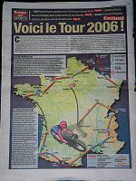 France Soir Tour Route - Click to enlarge