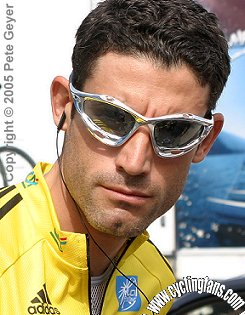 George Hincapie in yellow, 2005 Dauphine Libere