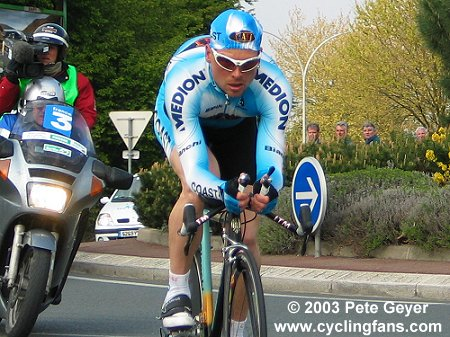 Jan Ullrich in the 2003 Circuit Sarthe race