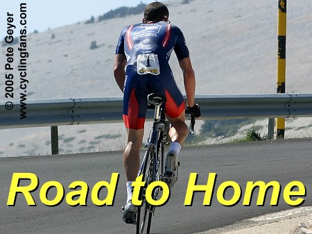 Lance Armstrong on Mont Ventoux, 2004 Dauphine Libere
