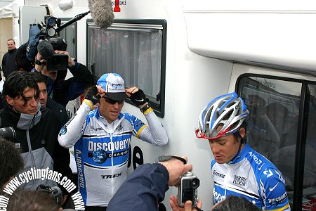 Lance Armstrong and Tom Danielson, 2005 Paris-Camembert