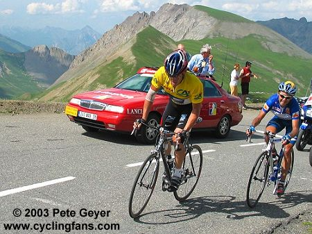 Lance Armstrong on the Galibier