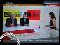 Jean-Marie Leblanc and Christian Prudhomme on L Equipe TV