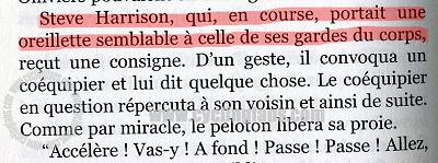 Michel Dalloni novel, page 136 extract