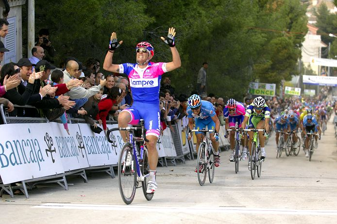 Mirco Lorenzetto (Lampre) today won stage 4 of the Vuelta Valenciana