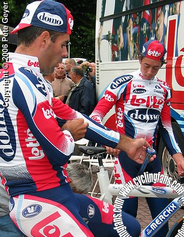 Peter Van Petegem and Leif Hoste, 2003 GP Eddy Merckx