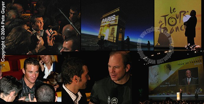 Tour de France route presentation collage