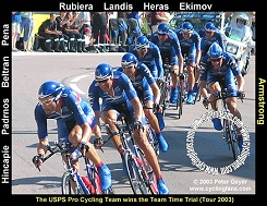 USPS wins the 2003 Team Time Trial