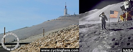Mont Ventoux and the moon
