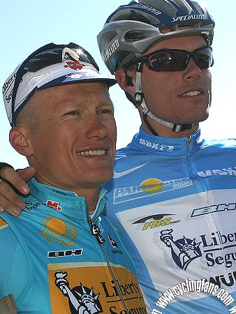 Alexandre Vinokourov and Luis Leon Sanchez (Liberty Seguros-Wurth)